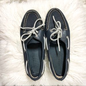 Sperry Navy Blue Leather Top-Sider Boat Shoes